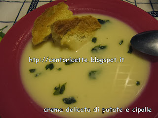 Crema delicata di patate e cipolle