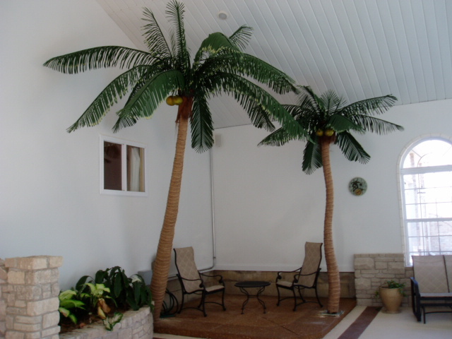 Quality silk plants blog tropical home decor with palm trees for Palm tree home decorations
