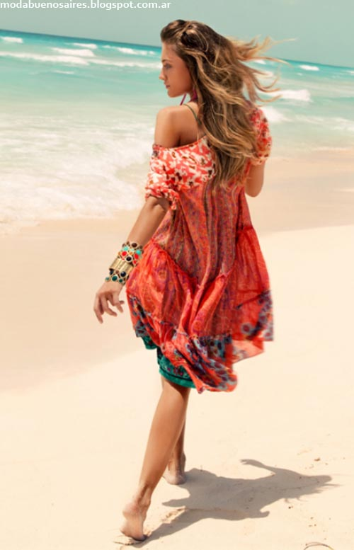 India Style primavera verano 2013. Vestidos playeros 2013.