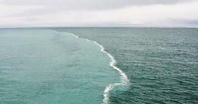 gulf of alaska has two oceans that meet but do not mix chemicals