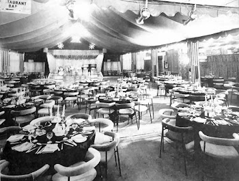 Clarence Pier set for a formal dinner