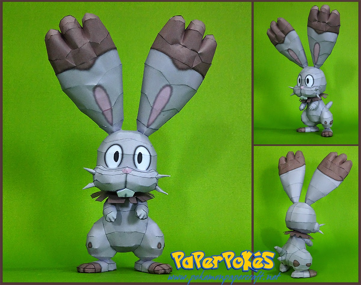 Pokemon Bunnelby Papercraft