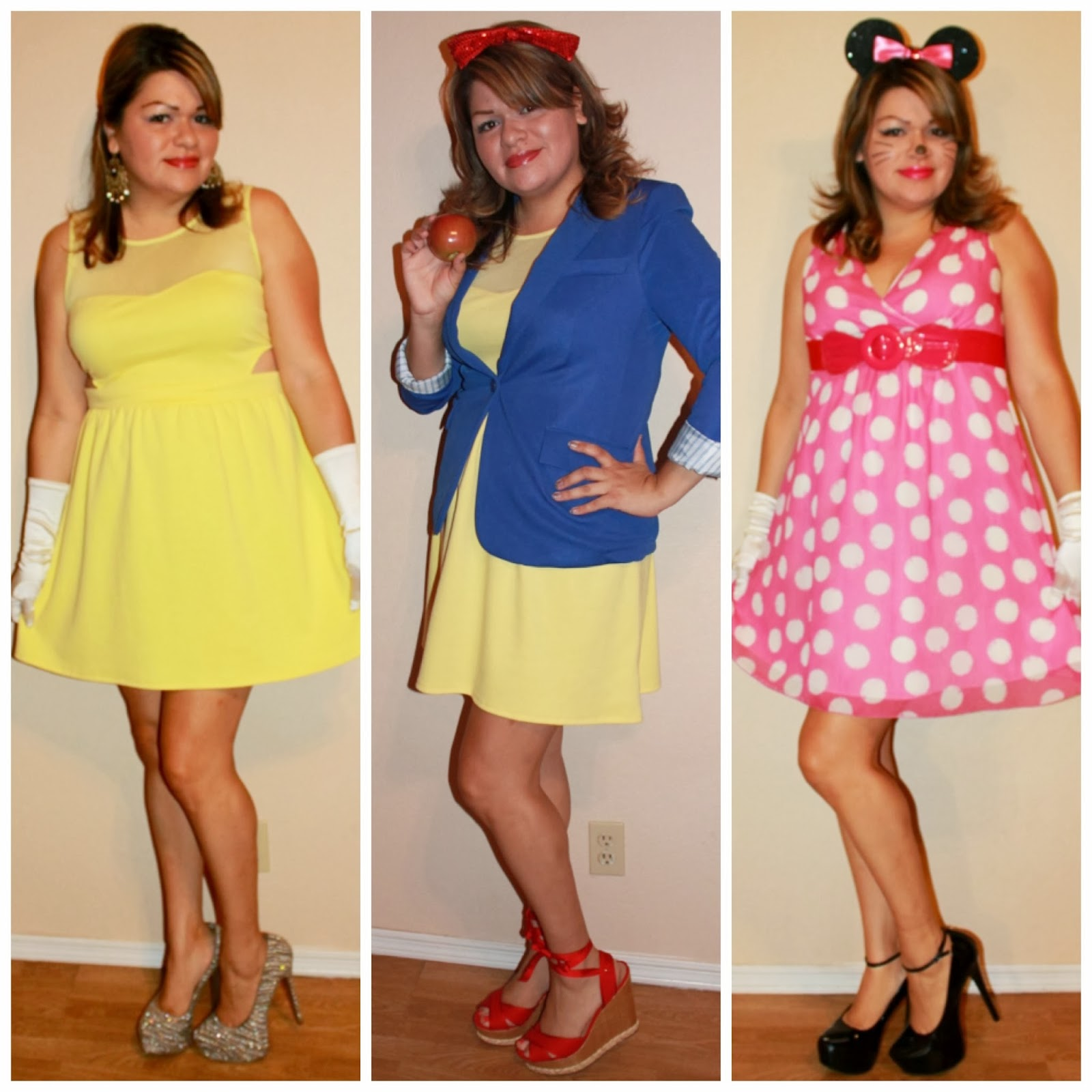 Disney Inspired Outfits Belle my pink polka dot dress is