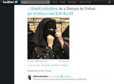Kim Kardashian in a Burqaa