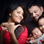 Anchor Anasuya with her family pictures