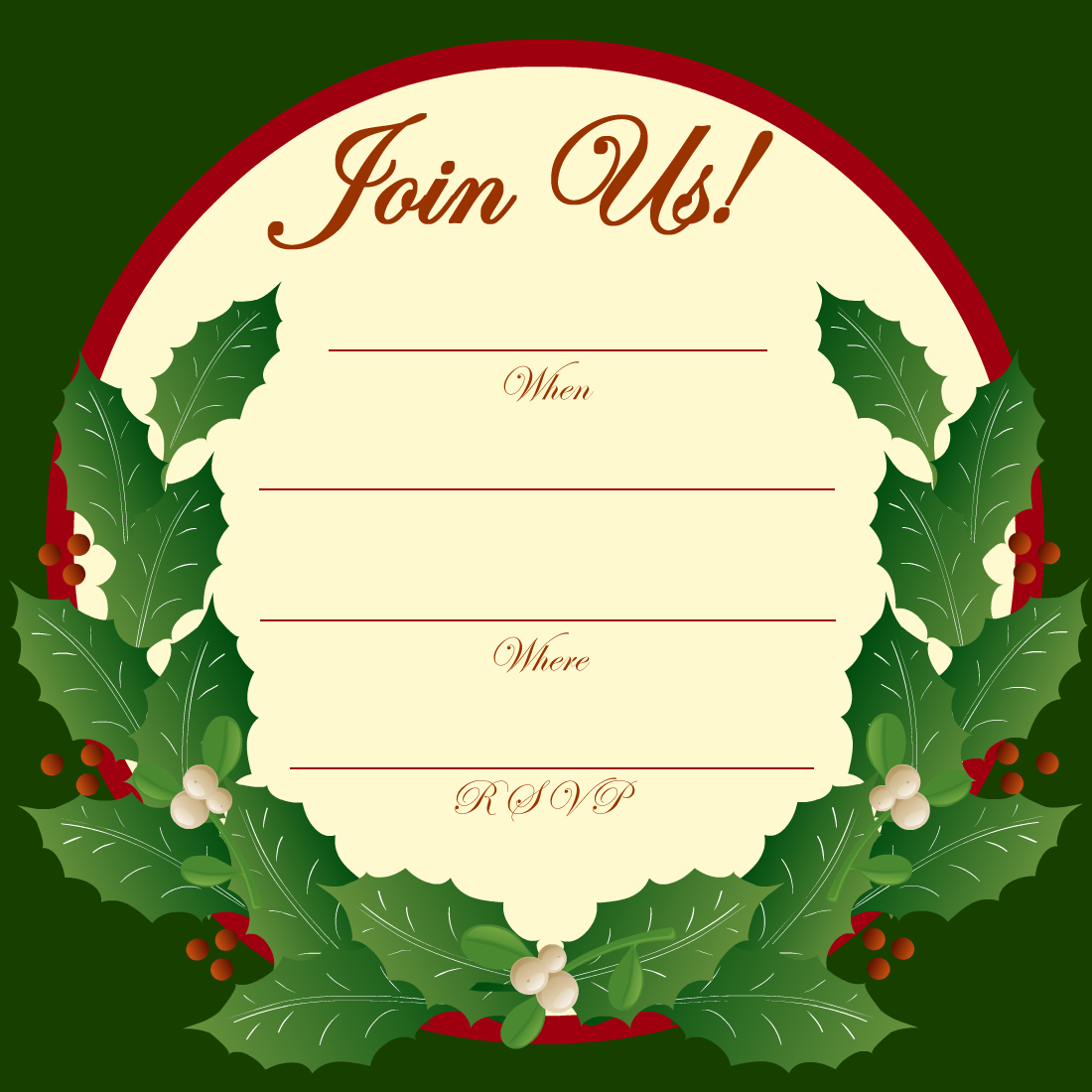 Christmas wallpapers and images and photos christmas party invitations wallpaperschristmas for Free holiday invite templates