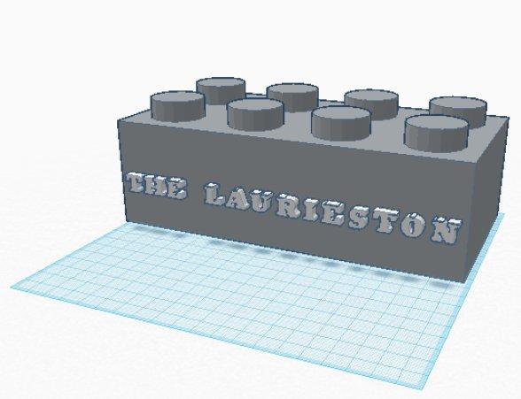 Laurieston Sign STL lego