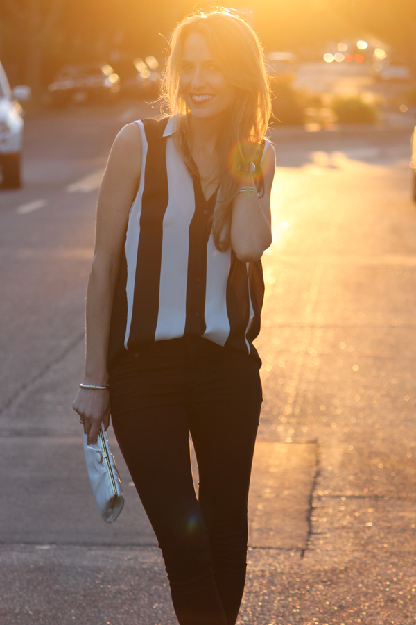 Half-tucked blouse