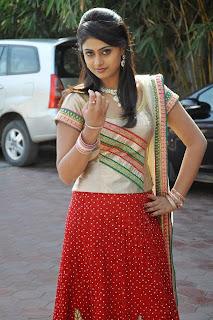 Actress Megha Sree Stills in Anaganaga Oka Chitram Launch Pictures 10.jpg