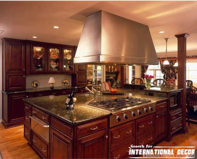 Best designs of luxury kitchens in classic style for Modern classic kitchen design ideas