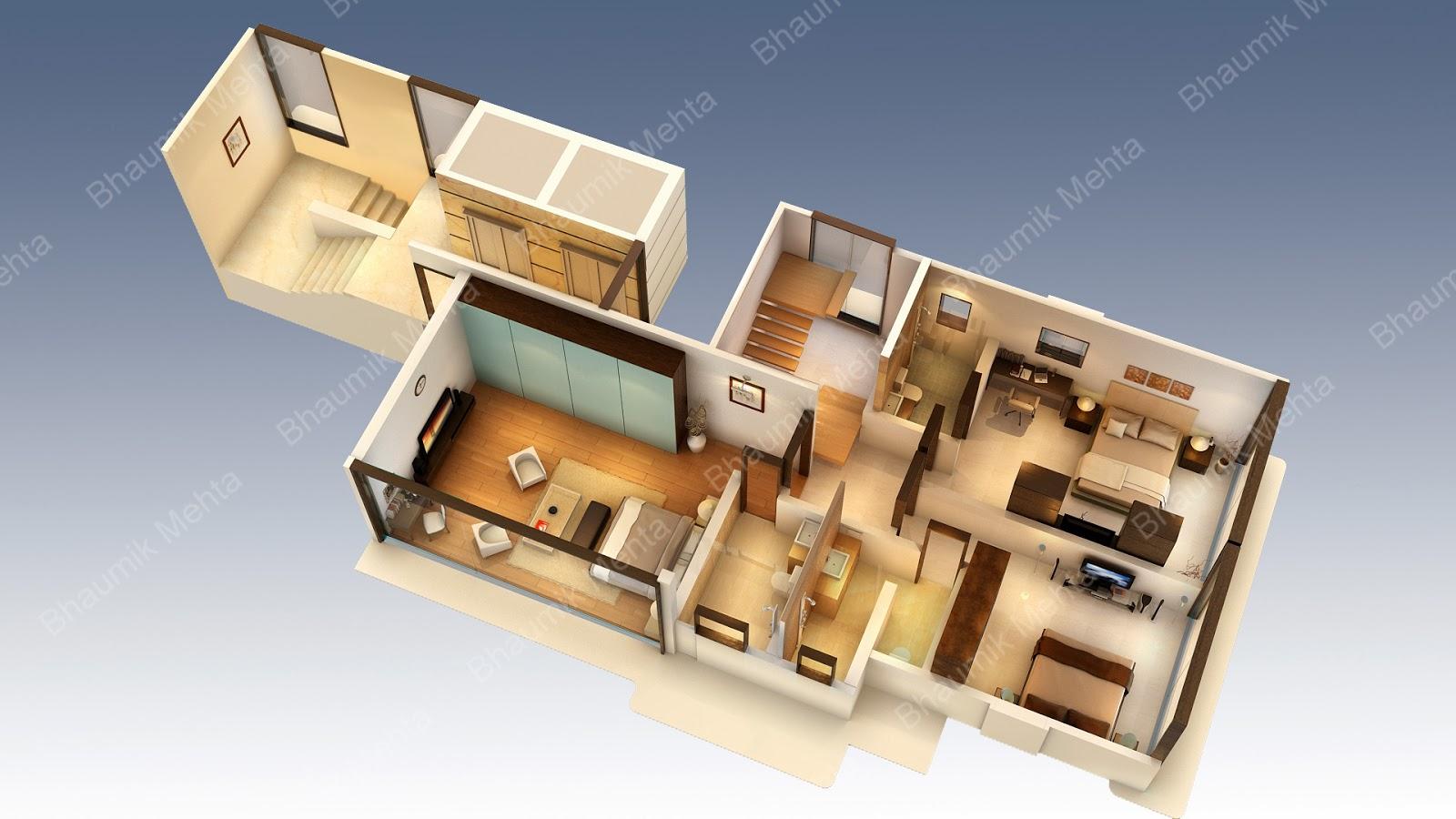 Bhaumik mehta 39 s 3d creations 3d floor plans for 3d planner