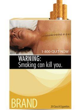 etiquetas efectos del tabaco en cajetillas de cigarrillos