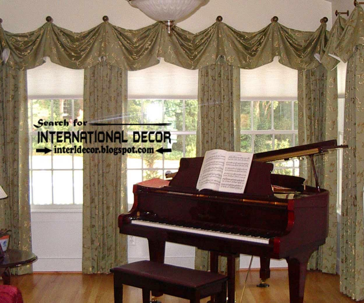 tradition living room curtain styles and window treatments designs