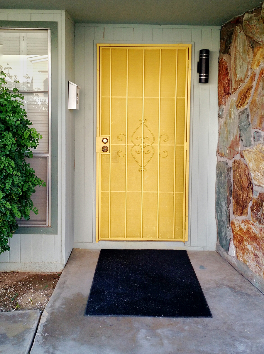 Bright Yellow Front Door - littleladylittlecity