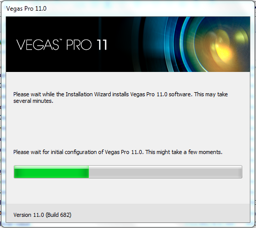 Install Sony Vegas Pro 11, download the installer on the link provided