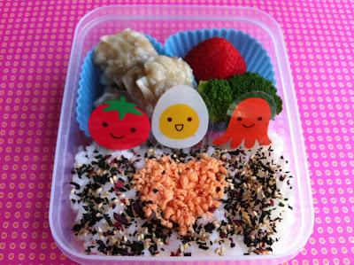 しゃけごはん弁当、Salmon Rice