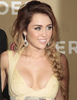 miley cyrus cavalli dress boobs