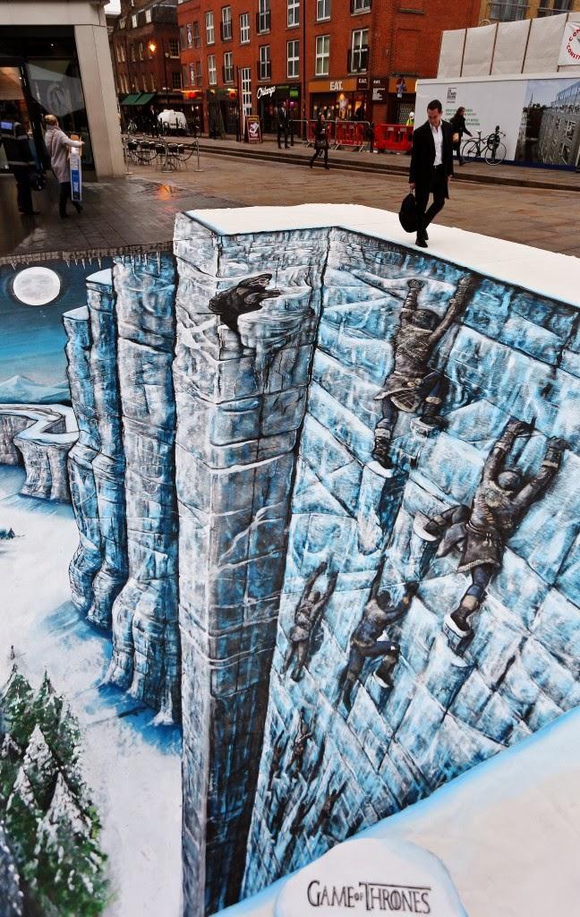 mural 3D el Muro de Juego de Tronos - Juego de Tronos en los siete reinos