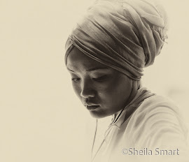 Sepia image of a young woman