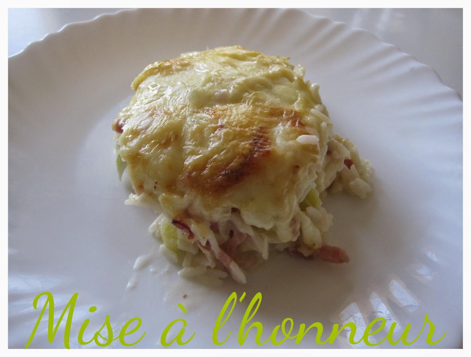 Gratin de risetti aux lardons et raclette