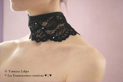ras du cou corset dentelle de calais ancienne vanessa lekpa