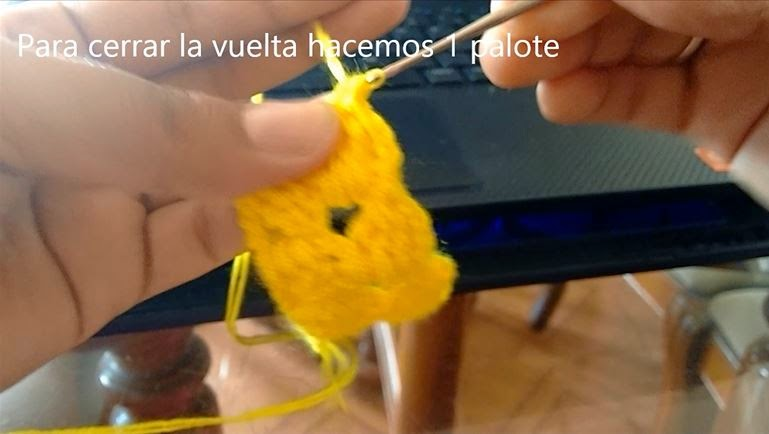 Puntada de Crochet Paso 9