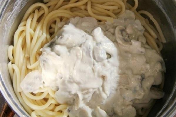 Грибной соус к спагетти рецепт с фото