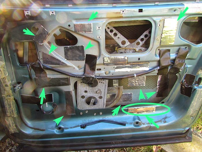 Crawls Backward When Alarmed Door Sound Deadening On The Saab 900