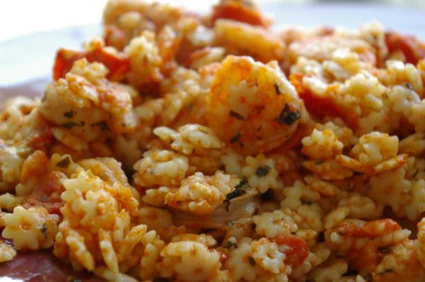 Ivy Ridge Traditions: Great Recipe ~ Basil Shrimp with Feta and Orzo