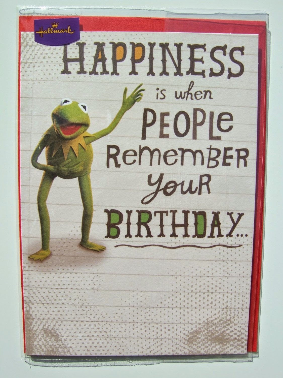 Uk hallmark greeting cards muppet stuff and theyre larger then most traditional us greeting cards m4hsunfo