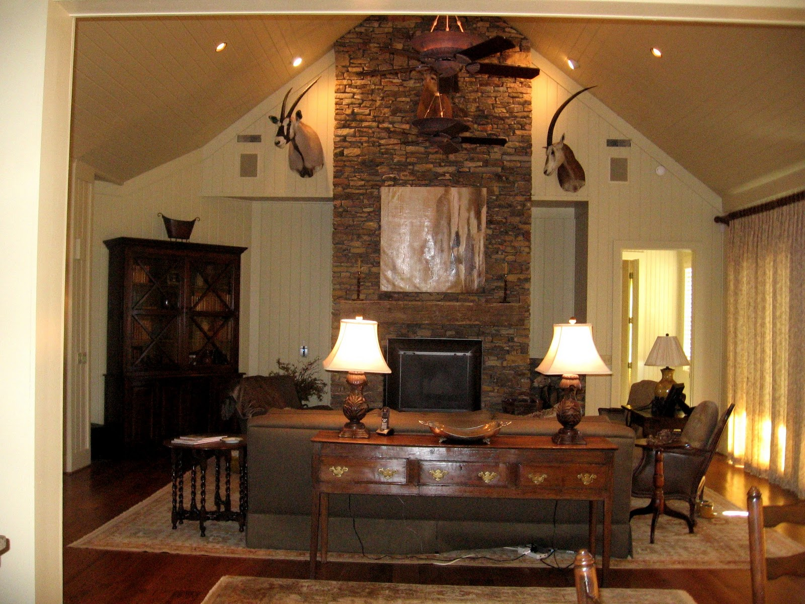 The Appointed Home Decorating With Trophy Big Game Mounts