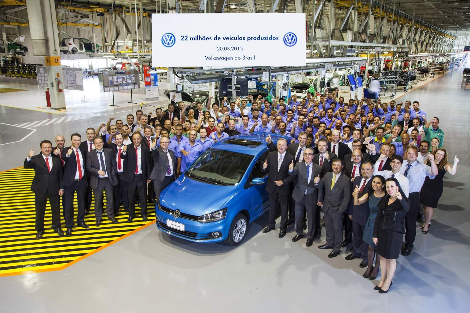 VW comemora 22 milhões de veículos produzidos no Brasil