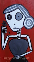 Day Of The Dead Folk Art Painting