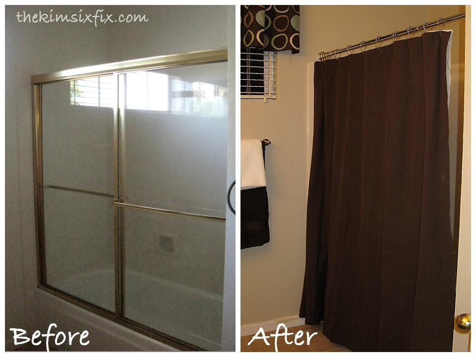 Removing Sliding Glass Shower Doors (Flashback Friday)   The Kim Six Fix