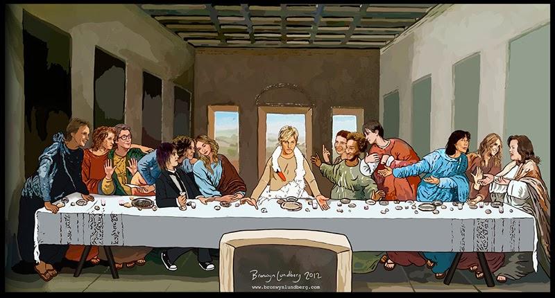 Lesbian Last Supper by Bronwyn Lundberg