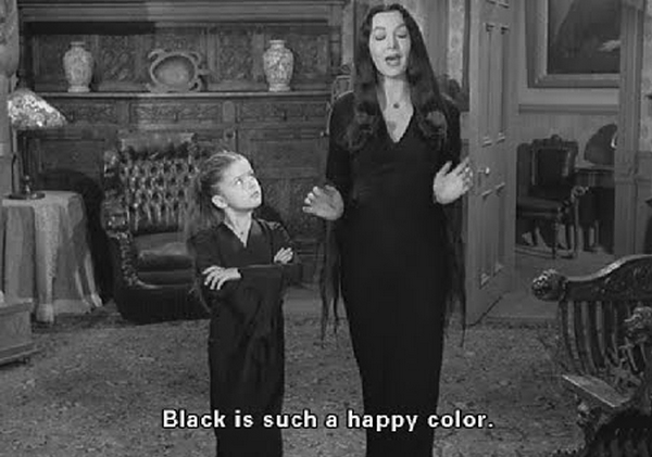 black is a happy color