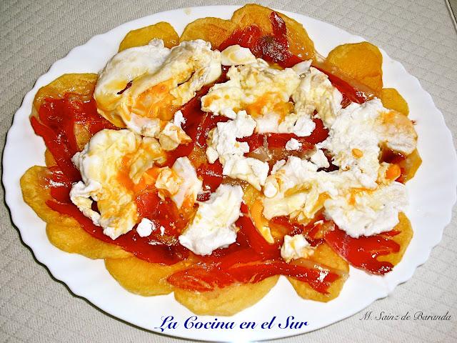La cocina en el sur huevos rotos con jam n iberico - Platos con jamon iberico ...