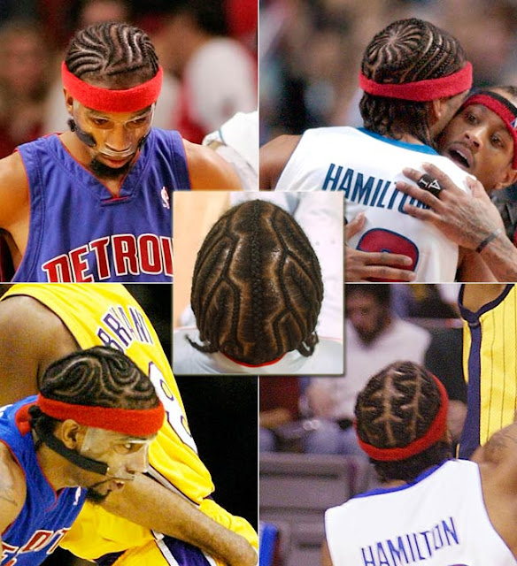 Richard Hamilton with some cool cornrows for his natural black hair