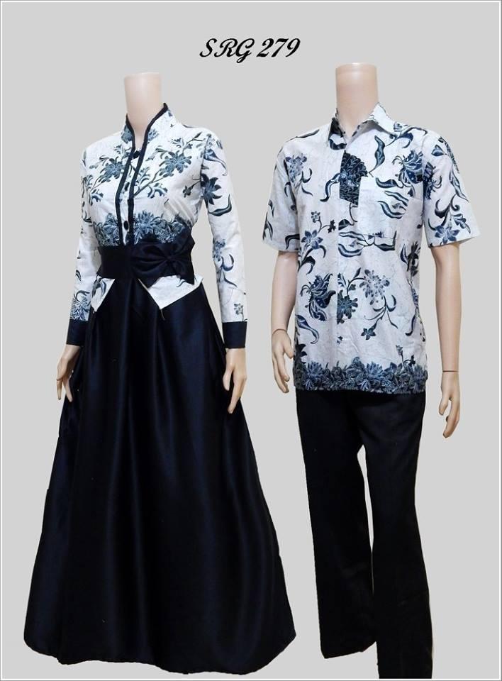 Batik Sarimbit Gamis 279 Katun Mix Velvet Aneka