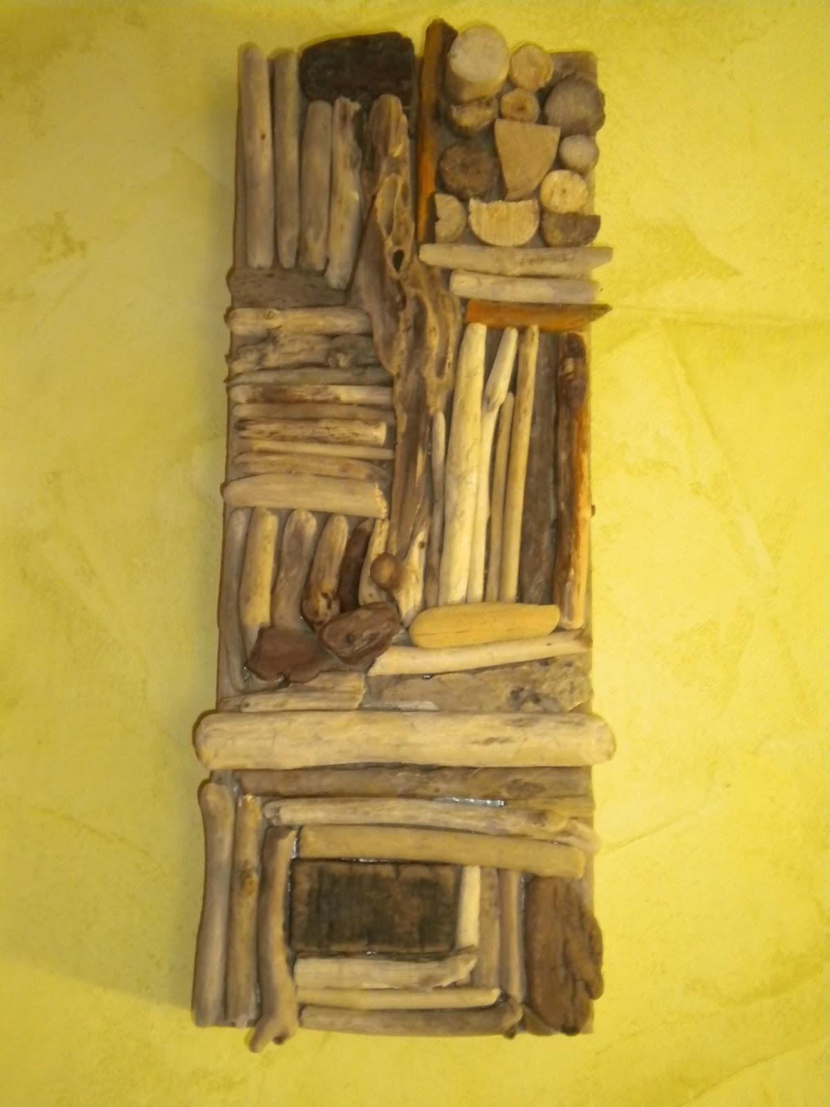 latelierdepec: TABLEAU 3D EN BOIS FLOTTE