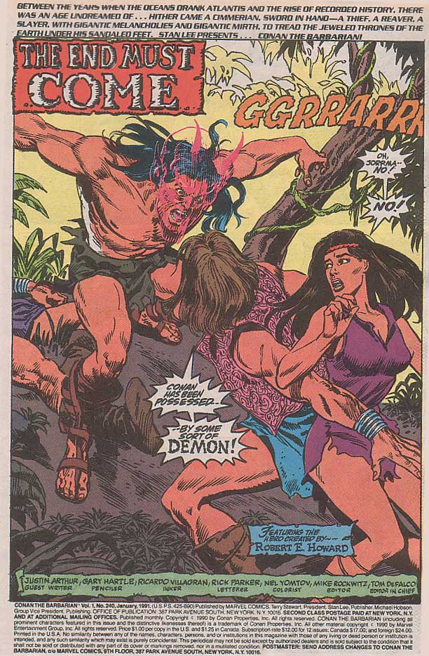 Conan the Barbarian (1970) Issue #240 #252 - English 2