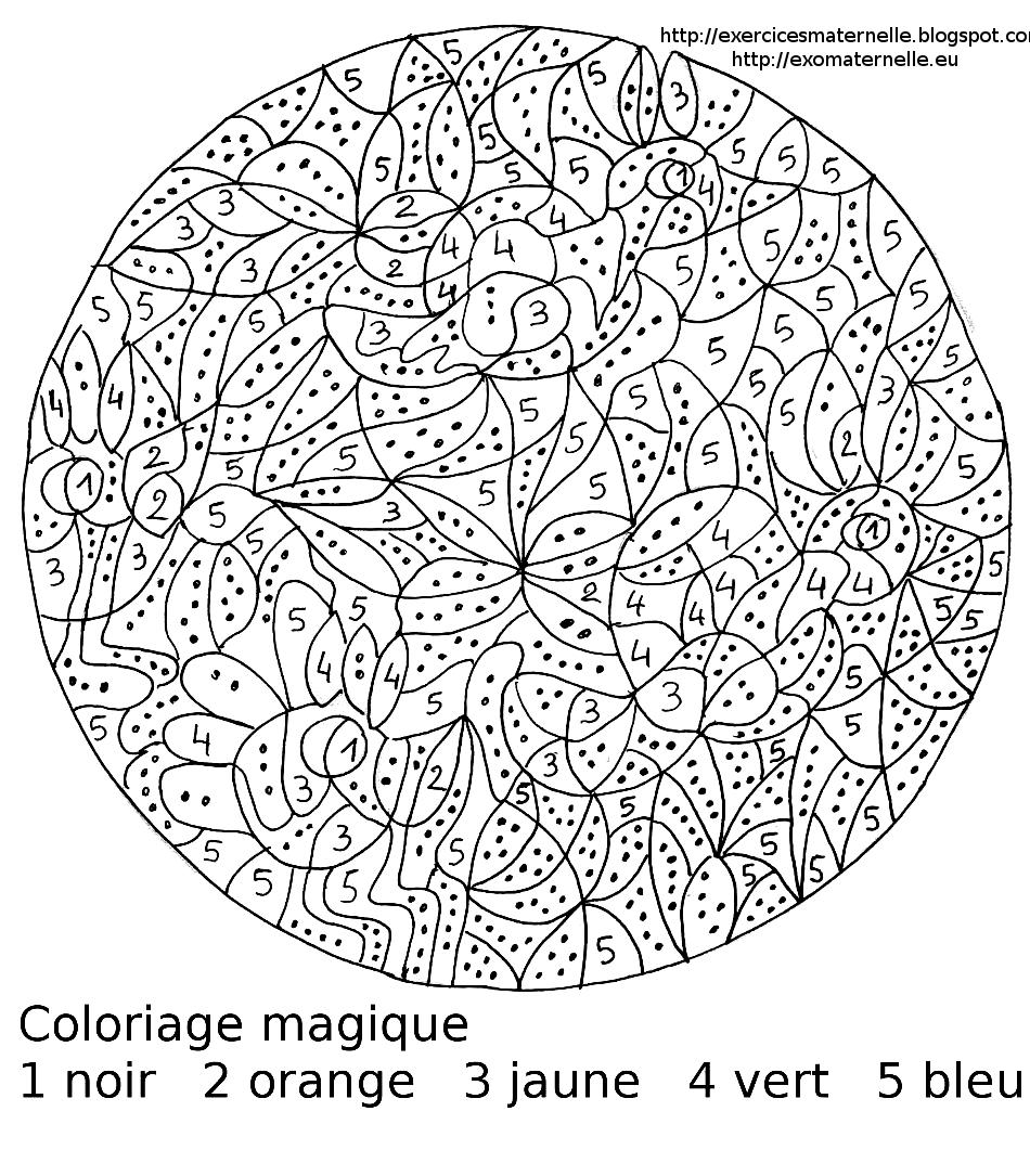 Maternelle coloriage magique maternelle oiseaux dans le - Coloriage d adulte a imprimer ...