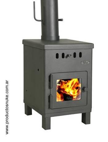 Calefactor salamandra de acero doble combustión para uso doméstico