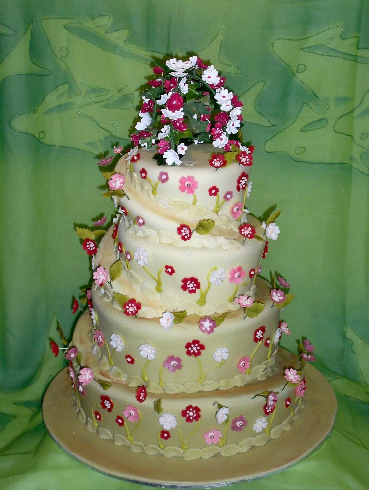 how to make a mountain shaped cake