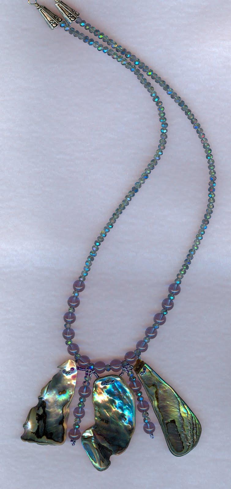 New Zealand Paua Shell Necklace