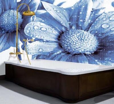 bagni con le piastrelle in ceramica