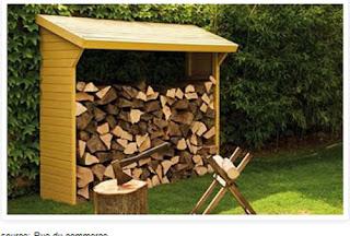 construire un abri pour le bois de chauffage. Black Bedroom Furniture Sets. Home Design Ideas