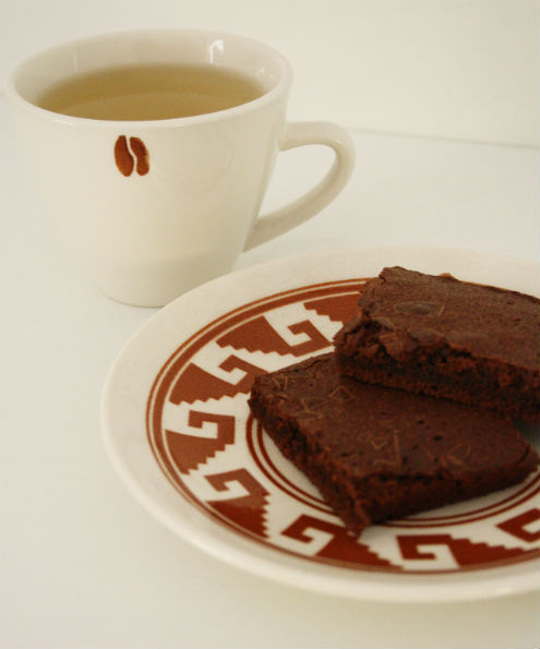 Tea and brownies