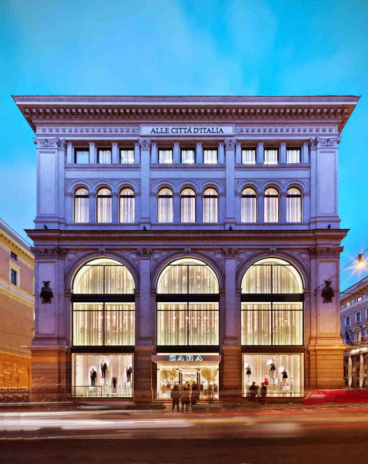 The shop locator zara flagship store by duccio grassi for Mac roma via del corso