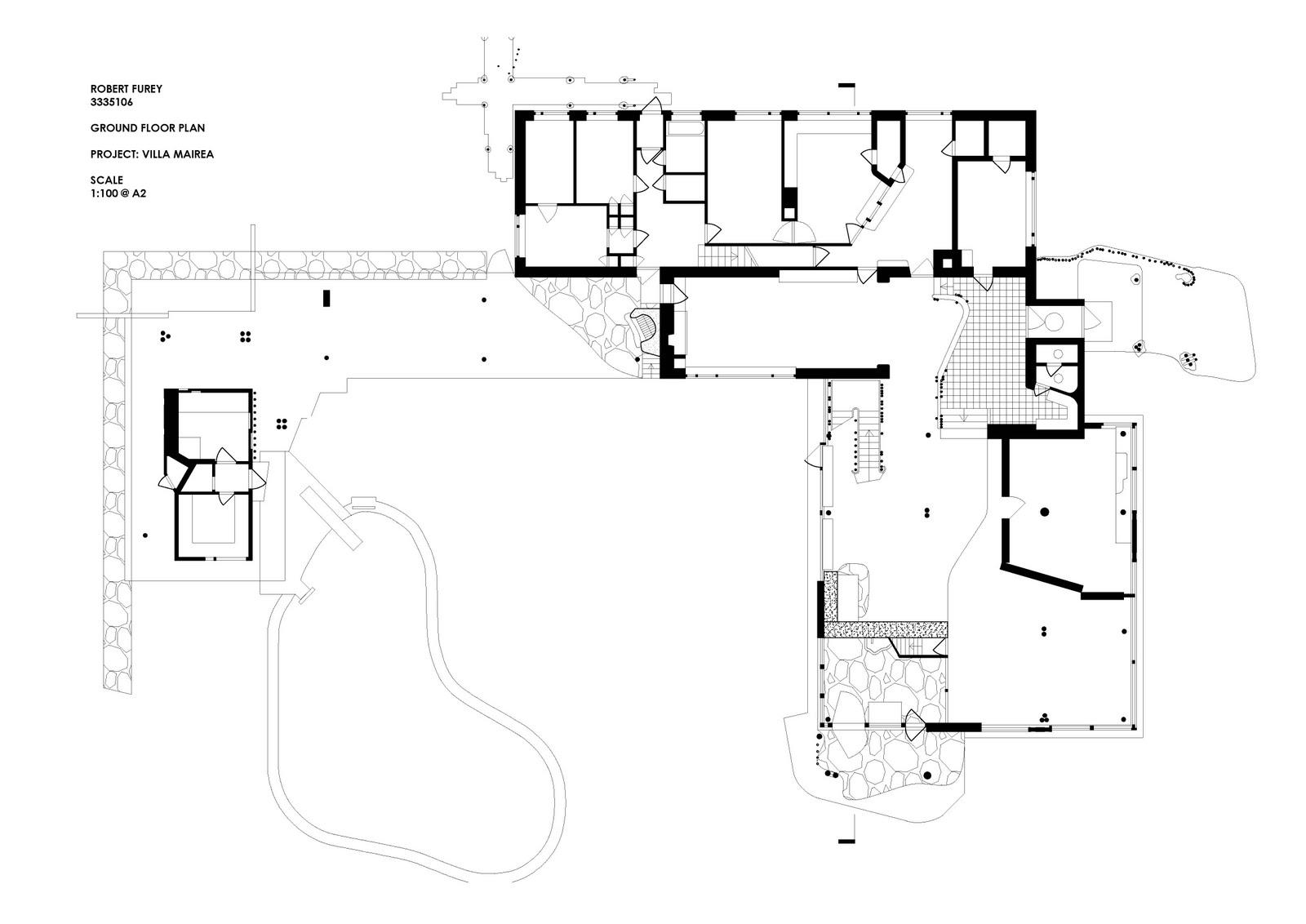 aalto villa mairea ground floor drawings pinterest alvar aalto